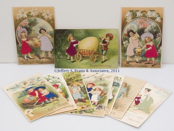 20: ASSORTED SILK ADD-ON EASTER POST CARDS, LOT OF 11