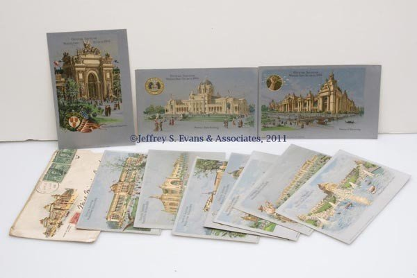 23: OFFICIAL ST. LOUIS WORLD'S FAIR POST CARDS, SET OF