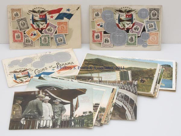 24: PANAMA AND PANAMA CANAL POST CARDS, LOT OF 39