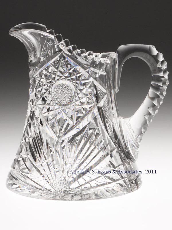 3: FRY BRILLIANT CUT GLASS WATER PITCHER