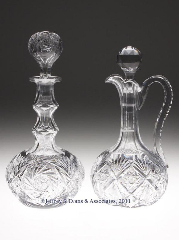 18: AMERICAN BRILLIANT CUT GLASS DECANTERS, LOT OF TWO