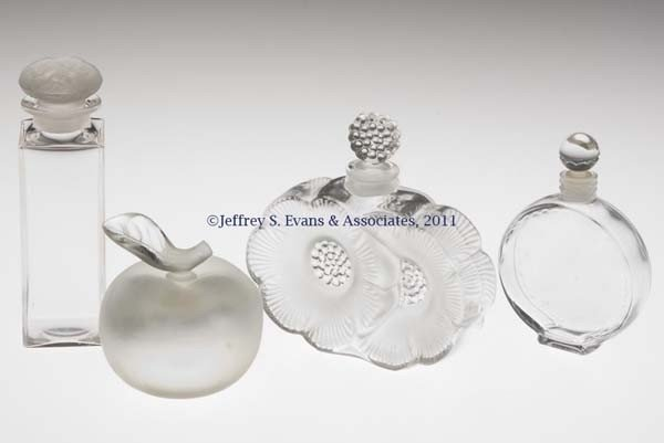 3: LALIQUE COMMERCIAL FRAGRANCE BOTTLES, LOT OF FOUR