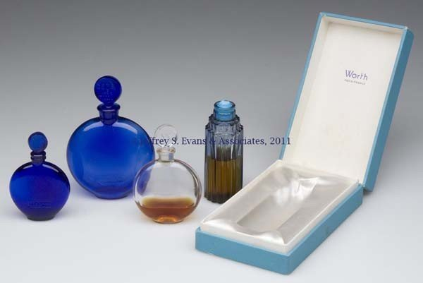 5: LALIQUE FOR WORTH COMMERCIAL FRAGRANCE BOTTLES, LOT