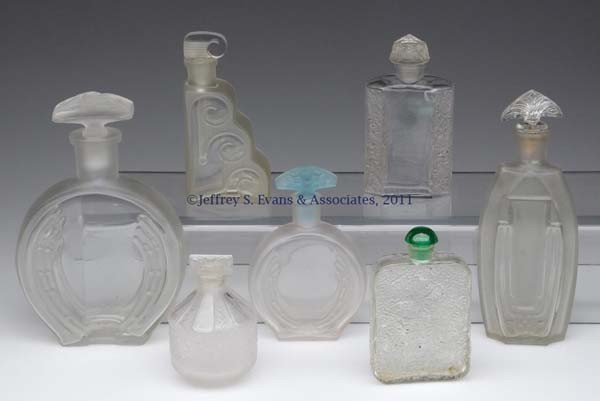 17: VINTAGE COMMERCIAL FRAGRANCE BOTTLES, LOT OF SEVEN