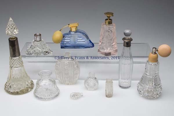 20: CUT GLASS AND OTHER COMMERCIAL FRAGRANCE BOTTLES, L