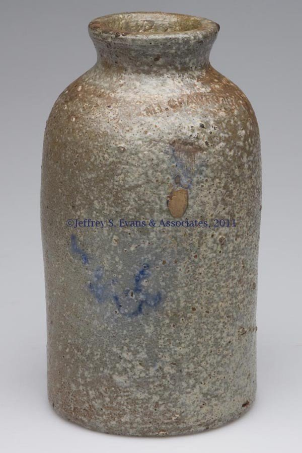 "9: SIGNED ""MT. CRAWFORD"", VA STONEWARE CANNER"