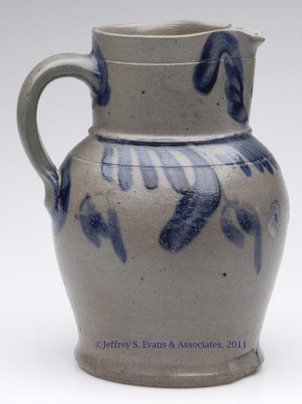 10A: SHENANDOAH VALLEY OF VA DECORATED STONEWARE PITCHE
