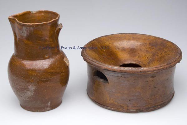 12: TWO SHENANDOAH VALLEY OF VA EARTHENWARE ARTICLES