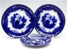 538: ENGLISH STAFFORDSHIRE TRANSFERWARE FLOW BLUE PLATE