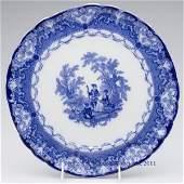 541 ENGLISH STAFFORDSHIRE TRANSFERWARE FLOW BLUE SERVI