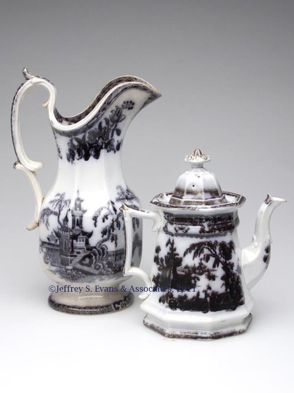 591: STAFFORDSHIRE TRANSFERWARE ARTICLES, LOT OF TWO