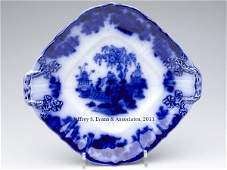 624 ENGLISH STAFFORDSHIRE TRANSFERWARE FLOW BLUE SERVI