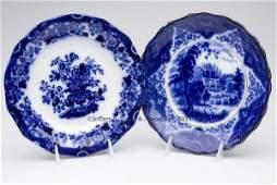 625: ENGLISH STAFFORDSHIRE TRANSFERWARE FLOW BLUE PLATE
