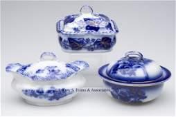 626 ENGLISH STAFFORDSHIRE TRANSFERWARE FLOW BLUE SOAP