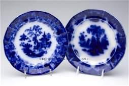 627: ENGLISH STAFFORDSHIRE TRANSFERWARE FLOW BLUE PLATE
