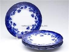 628: ENGLISH STAFFORDSHIRE TRANSFERWARE FLOW BLUE SET O
