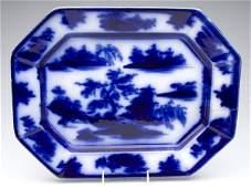 629 ENGLISH STAFFORDSHIRE TRANSFERWARE FLOW BLUE PLATT