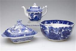 710 STAFFORDSHIRE TRANSFERWARE ARTICLES LOT OF THREE