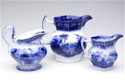 719 ENGLISH STAFFORDSHIRE TRANSFERWARE FLOW BLUE PITCH