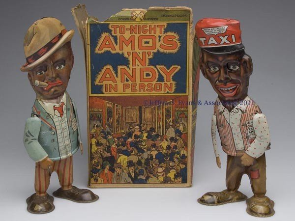 """520: MARX """"TO-NIGHT AMOS 'N' ANDY IN PERSON"""" WIND-UP TI"""