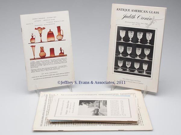 3: AMERICAN GLASS SALES LISTS, LOT OF SEVEN
