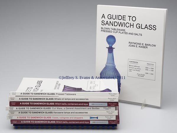 9: BOSTON AND SANDWICH GLASS REFERENCE VOLUMES, LOT OF
