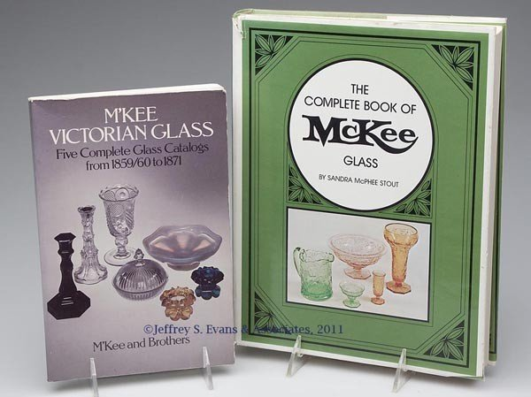 21: M'KEE / MCKEE GLASS REFERENCE VOLUMES, LOT OF TWO