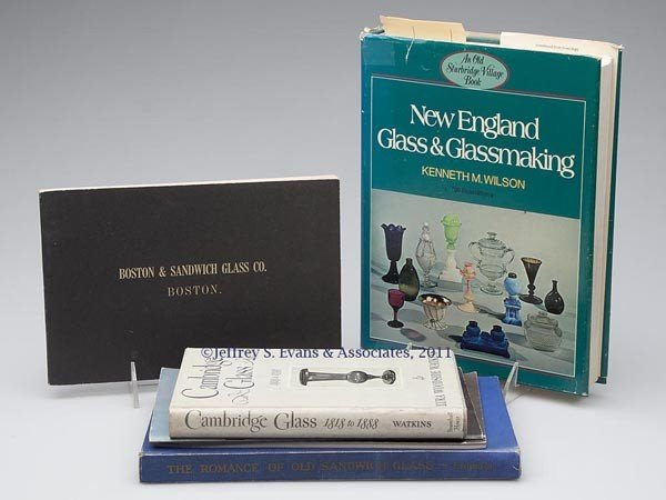 22: NEW ENGLAND GLASS REFERENCE VOLUMES, LOT OF SIX