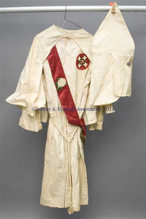 148 Vintage Ku Klux Klan Robe And Accessories