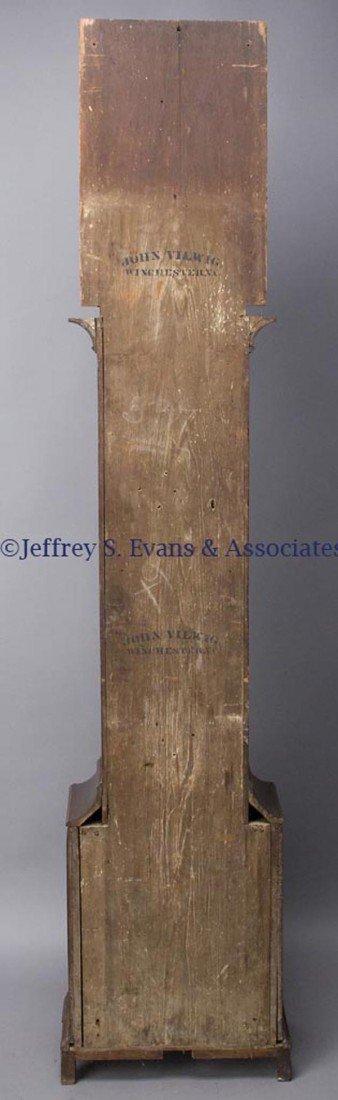 "530: SIGNED ""JOHN FESSLER / FREDERICK TOWN"" MD CHIPPEND - 7"