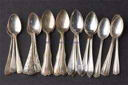 671 ASSORTED AMERICAN STERLING SILVER DEMITASSE SPOONS
