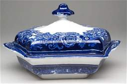 872 STAFFORDSHIRE TRANSFERWARE COVERED VEGETABLE DISH