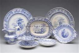 876 STAFFORDSHIRE TRANSFERWARE ARTICLES LOT OF EIGHT