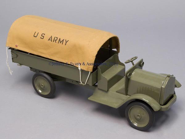 6: KEYSTONE PRESSED STEEL U. S. ARMY TOY TRUCK