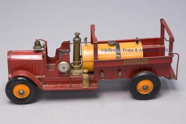 7: STRUCTO PRESSED STEEL TOY PUMPER FIRE TRUCK