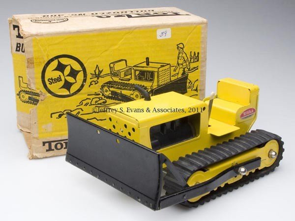 36: TONKA PRESSED STEEL NO. 300 TOY BULLDOZER