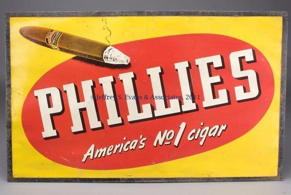 245: PHILLIES CIGAR ADVERTISING SIGN