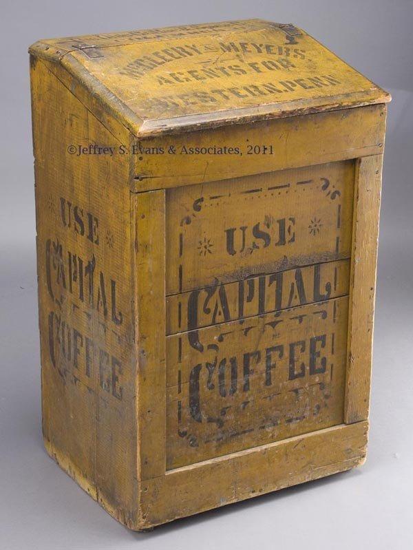 300: CAPITAL COFFEE PAINTED-WOOD BIN