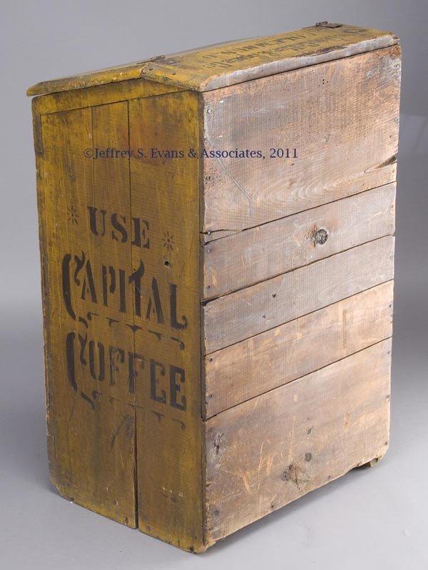 300: CAPITAL COFFEE PAINTED-WOOD BIN - 2
