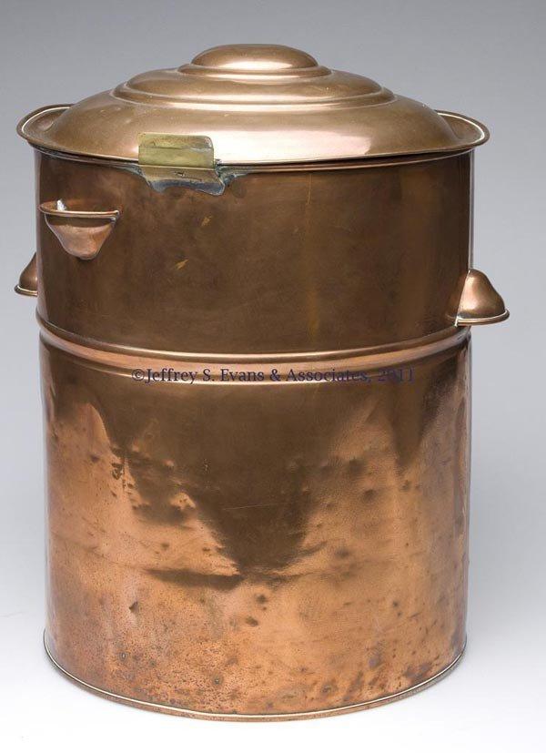 335: BARBER SHOP COPPER TOWEL WARMER OR STERILIZER - 2