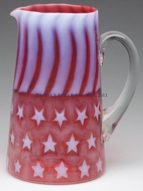 640: STARS AND STRIPES WATER PITCHER