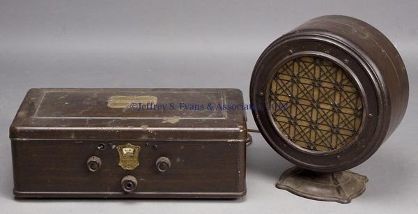110: ATWATER KENT 60 TUBE RADIO AND SPEAKER