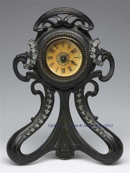 184 Art Nouveau Western Clock Co Dresser Clock