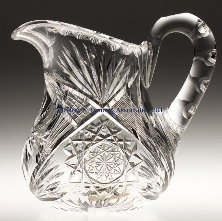 "4: FRY ""YALE"" CUT GLASS JUG"