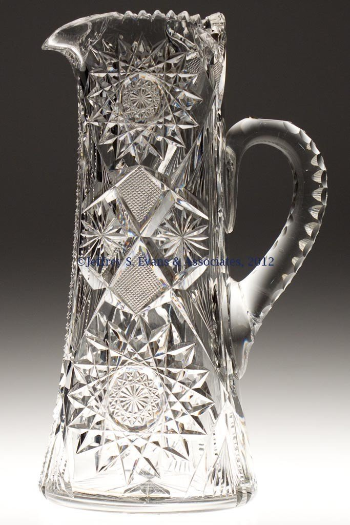 "5: FRY ""JAPAN"" CUT GLASS PITCHER"