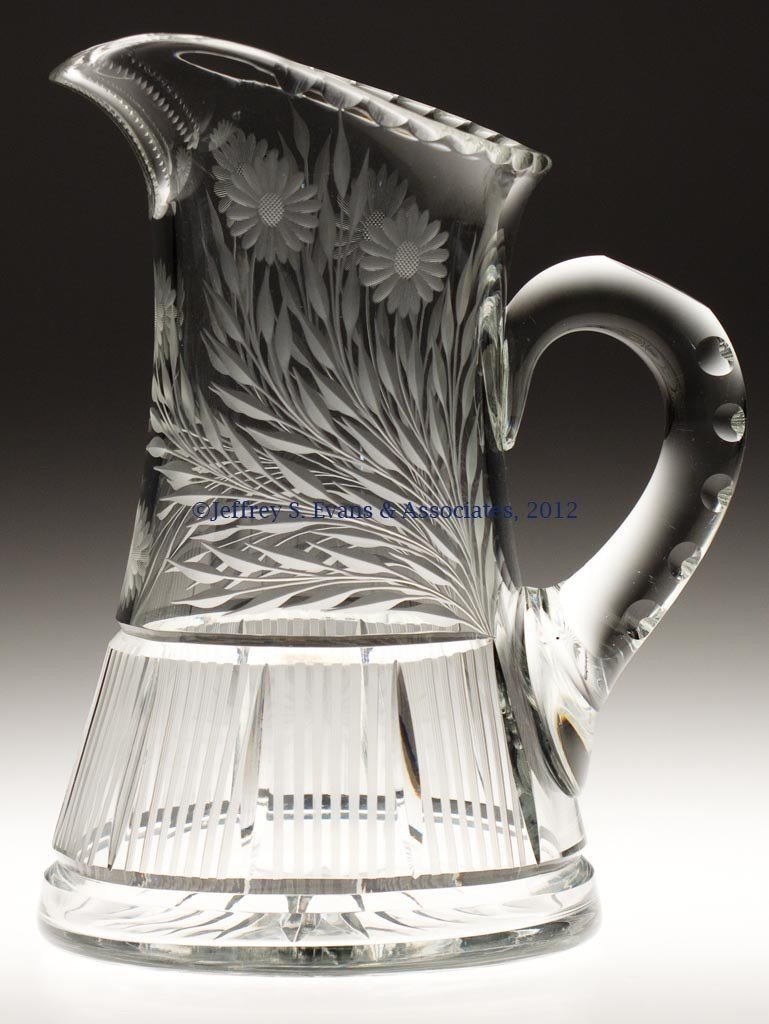 6: FRY CUT GLASS JUG