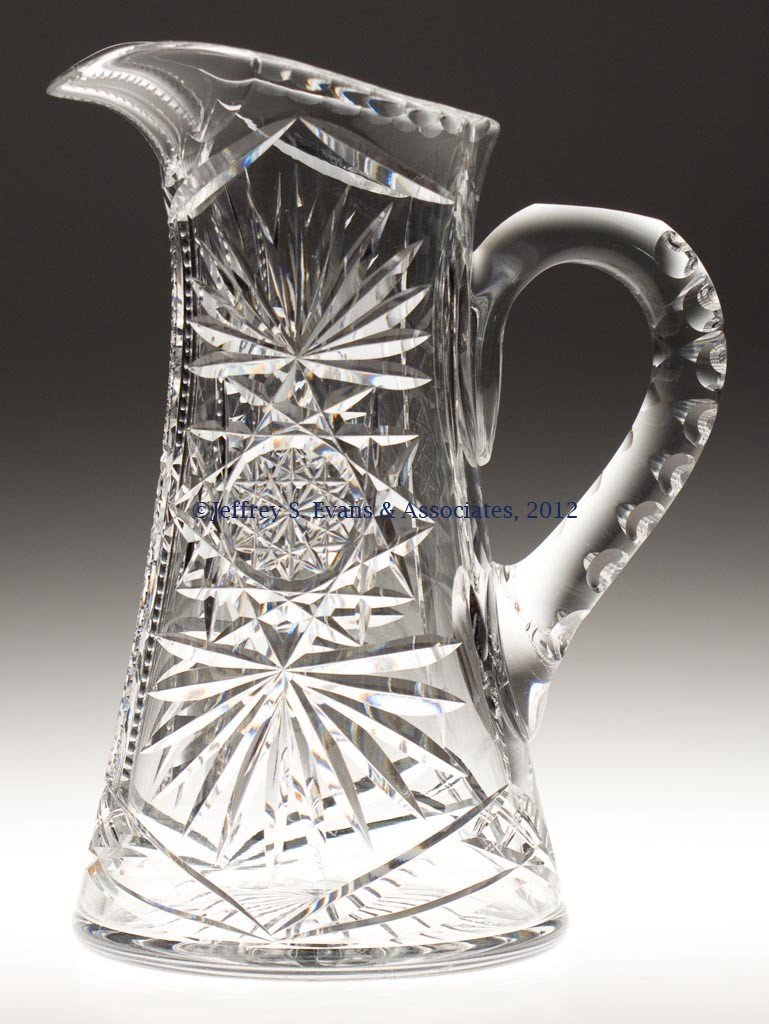 9: FRY CUT GLASS TANKARD PITCHER