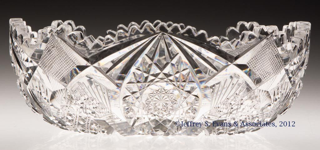 "20: FRY ""ORNATE"" CUT GLASS BOWL"
