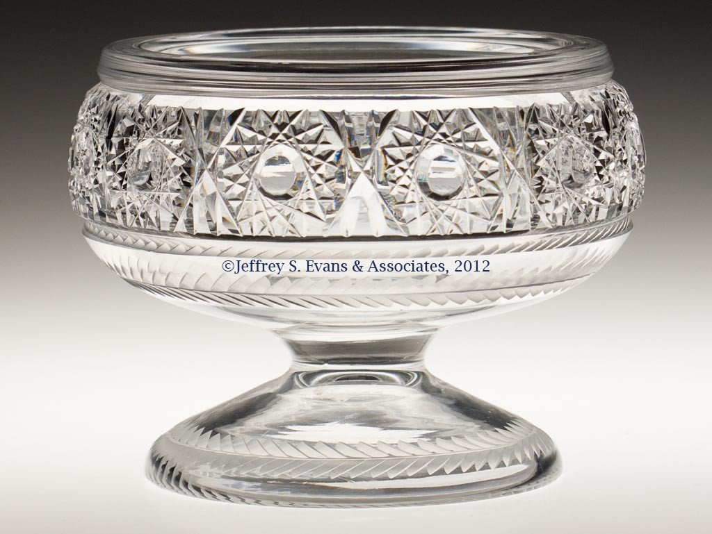 "21: FRY ""PERSHING"" CUT GLASS BOWL"