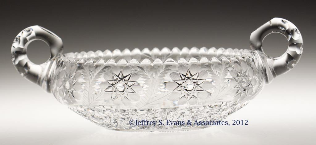 "22: FRY ""PERSHING"" CUT GLASS BOWL"